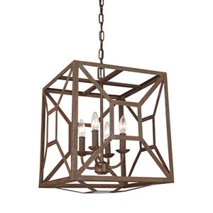 Marquelle Weathered Iron Four-Light Chandelier