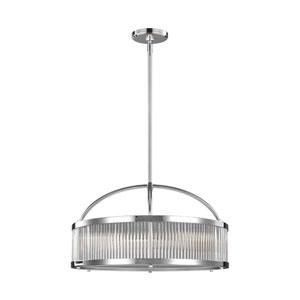 Paulson Chrome Three-Light Pendant