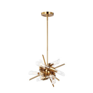 Quorra Burnished Brass Twelve-Light Chandelier