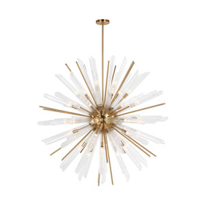 Quorra Burnished Brass Forty-One Light Chandelier
