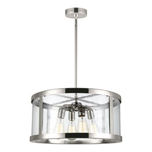 Harrow Polished Nickel 20-Inch Four-Light Pendant