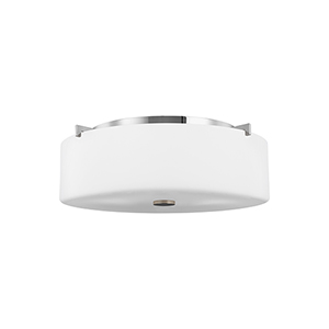 Sunset Drive Chrome Three-Light Flush Mount