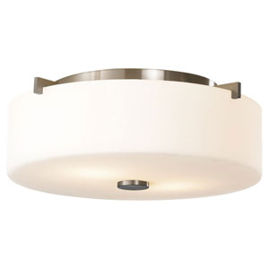 Sunset Drive Brushed Steel Two-Light Flush Mount