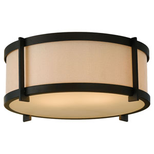 Stelle Oil Rubbed Bronze Two-Light Flush Mount