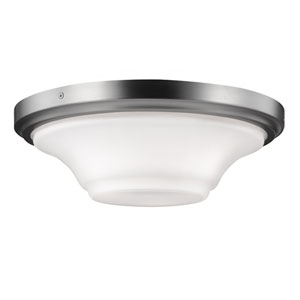 Summerdale Satin Nickel Three-Light Flushmount