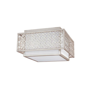 Kenney Sunrise Silver Two-Light Ceiling Fixture
