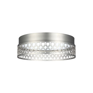 Amani Satin Nickel LED Ceiling Fixture