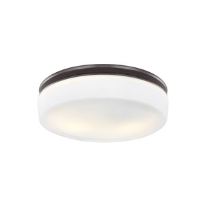 Issen Oil Rubbed Bronze Two-Light Flush Mount