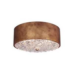 Dori Antique Burnished Brass Two-Light Flush Mount