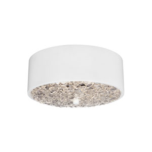 Dori Flat White Two-Light Flush Mount
