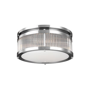 Paulson Chrome Three-Light Flush Mount