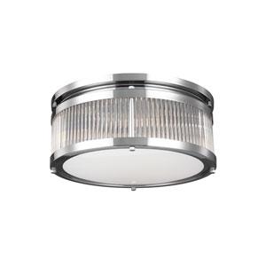 Paulson Chrome Three-Light Flush Mount