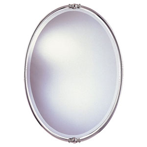 New London Polished Nickel Mirror