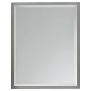 Halstad Brushed Steel Mirror