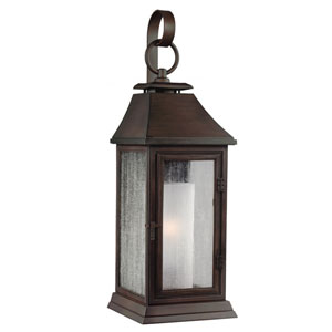 Shepherd Heritage Copper One-Light 17-Inch Outdoor Wall Sconce