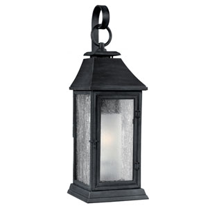 Shepherd Dark Weathered Zinc One-Light 19-Inch Outdoor Wall Sconce