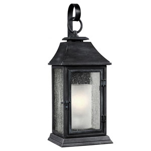 Shepherd Dark Weathered Zinc One-Light 9-Inch Wide Outdoor Wall Sconce