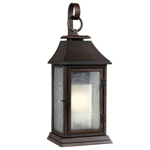 Shepherd Heritage Copper One-Light 9-Inch Wide Outdoor Wall Sconce