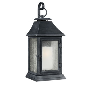 Shepherd Dark Weathered Zinc One-Light 11-Inch Wide Outdoor Wall Sconce