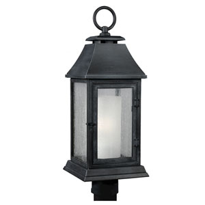 Shepherd Dark Weathered Zinc One-Light Outdoor Post Mount