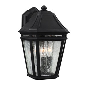 Londontowne Black Three-Light 14-Inch Outdoor Wall Sconce