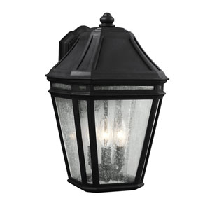Londontowne Black Three-Light 16-Inch Outdoor Wall Sconce