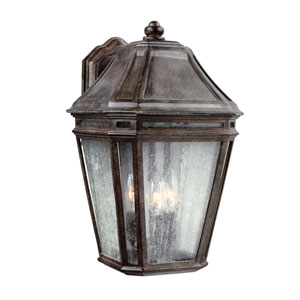 Londontowne Weathered Chestnut Three-Light 16-Inch Outdoor Wall Sconce