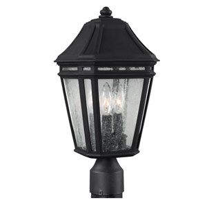 Londontowne Black Three-Light 17-Inch Integrated LED Outdoor Post Mount