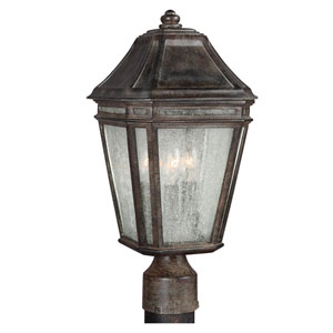Londontowne Weathered Chestnut Three-Light 7-Inch Wide Outdoor Post Mount