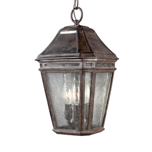 Londontowne Weathered Chestnut Three-Light 8-Inch Wide Outdoor Pendant