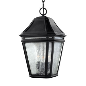 Londontowne Black Three-Light Outdoor Pendant