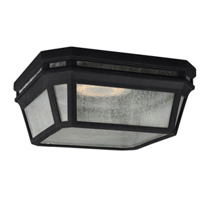 Londontowne Black One-Light Integrated LED Outdoor Flushmount
