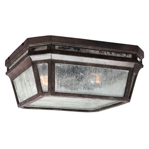 Londontowne Weathered Chestnut Two-Light Outdoor Flushmount