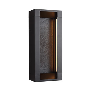 Mattix Oil Rubbed Bronze Short LED Line Voltage Outdoor Sconce