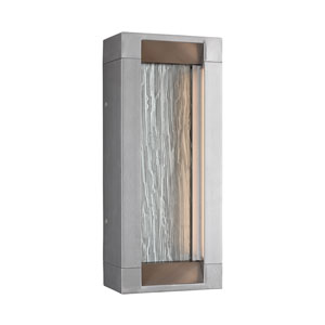 Mattix Painted Silver Short LED Line Voltage Outdoor Sconce