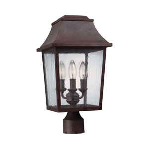 Estes Patina Copper Three-Light Outdoor Post Mount