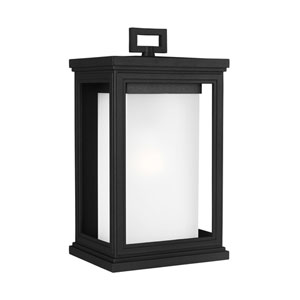 Roscoe 14-Inch Textured Black One-Light Outdoor Wall Sconce