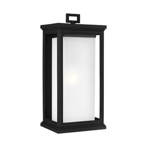Roscoe 18-Inch Textured Black One-Light Outdoor Wall Sconce