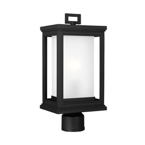 Roscoe Textured Black One-Light Outdoor Post Light