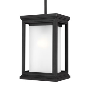 Roscoe Textured Black One-Light Outdoor Pendant