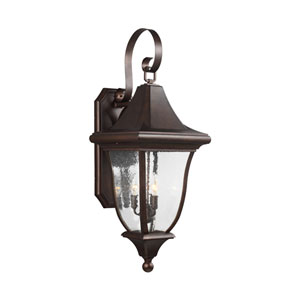 Oakmont Patina Bronze Three-Light Outdoor Wall Lantern