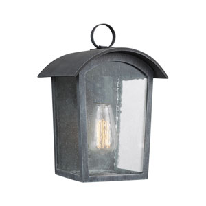 Hodges Ash Black 7-Inch One-Light Outdoor Wall Lantern