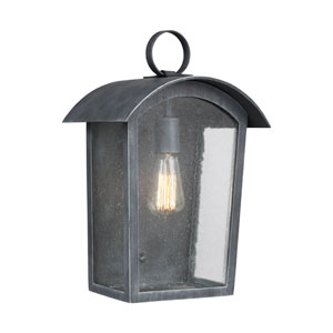 Hodges Ash Black 11-Inch One-Light Outdoor Wall Lantern