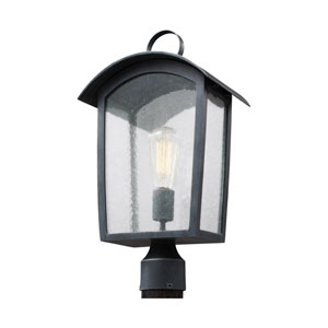 Hodges Ash Black One-Light Outdoor Post Lantern
