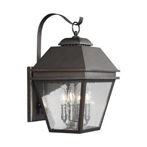 Herald Antique Bronze 12-Inch Four-Light Outdoor Wall Lantern