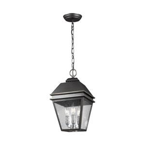 Herald Antique Bronze Three-Light Outdoor Pendant Lantern
