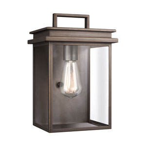 Glenview Antique Bronze 8-Inch One-Light Outdoor Wall Lantern