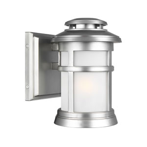 Newport Painted Brushed Steel 6-Inch One-Light Outdoor Wall Lantern