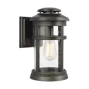 Newport Antique Bronze 8-Inch One-Light Wall Lantern