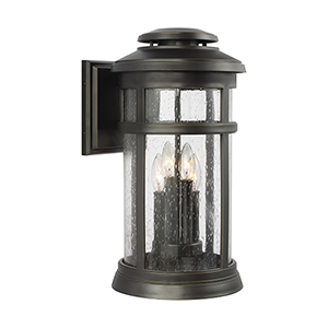 Newport Antique Bronze Four-Light Wall Lantern